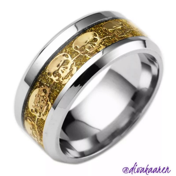 Other - Stainless Steel Titanium Wedding Band/Ring Skull
